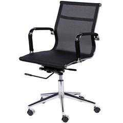 Cadeira para Escritório com Base Giratória Eames Tela 97x61cm Preta - Ór Design