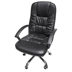 Cadeira para Escritório com Base Giratória Office Clean 89x52cm Preta - Ór Design