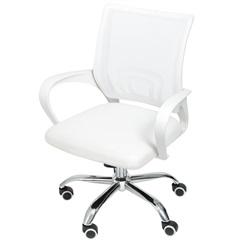Cadeira para Escritório com Base Giratória Office Tok 52x60cm Branca - Ór Design