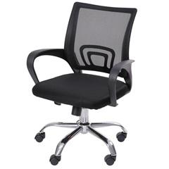 Cadeira para Escritório com Base Giratória Office Tok 52x60cm Preta - Ór Design