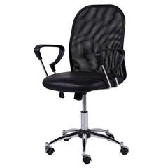 Cadeira para Escritório com Base Giratória Toronto 53x55cm Preta - Ór Design