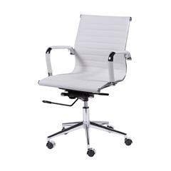 Cadeira para Escritório com Braços Esteirinha 57x61cm Branca - Ór Design
