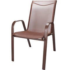 Cadeira para Jardim em Aço 92x54cm Marrom - Importado