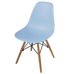 Cadeira Polipropileno com Pés de Madeira 82x47cm Azul - Importado