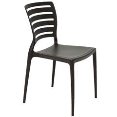 Cadeira Sofia com Encosto Vazado Marrom - Tramontina