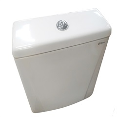 Caixa Acoplada com Acionamento Duplo 3/6 Litros Gardênia Branca - Mari Louças Sanitárias