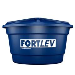 Caixa D'Água em Polietileno com Tampa 2000 Litros Azul - Fortlev