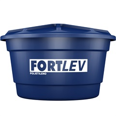 Caixa D'Água em Polietileno com Tampa 500 Litros Azul - Fortlev
