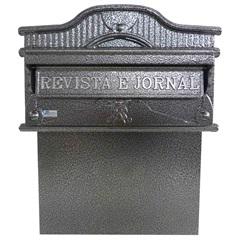 Caixa de Correio em Alumínio Imperial 41x35cm Prata - Prates & Barbosa