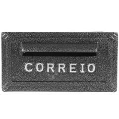 Caixa de Correio em Alumínio Turquesa 14x27cm Grafite - Prates & Barbosa