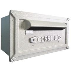 Caixa de Correio em Alumínio Turquesa - Prates & Barbosa