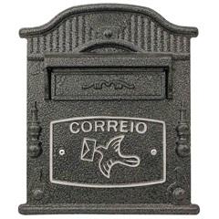 Caixa de Correio em Alumínio Vitória 24x31cm Prata - Prates & Barbosa
