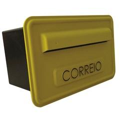 Caixa de Correio em Pvc 25,7x15,7cm Amarela - Fixtil