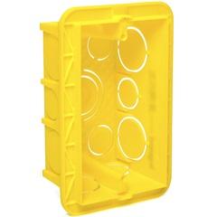 Caixa de Embutir para Alvenaria 4x2 Amarela  - Pial Legrand
