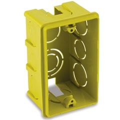 Caixa de Luz em Polipropileno 4x2 Retangular Amarela - Force Line
