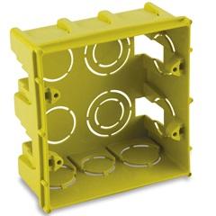 Caixa de Luz em Polipropileno 4x4 Quadrada Amarela - Force Line