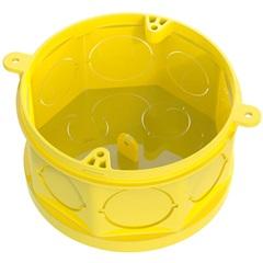 """Caixa de Luz Octogonal em Pvc Flex Fundo Móvel 4x4"""" Amarela - Tigre"""
