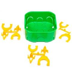 """Caixa de Luz Oval de Embutir em Pvc Dryfix Eletroduto 4x4"""" Verde - Tigre"""
