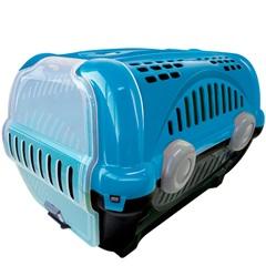 Caixa de Transporte para Pets Luxo 40x36,5cm Azul - Furacão Pet