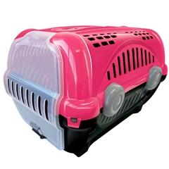 Caixa de Transporte para Pets Luxo 40x36,5cm Rosa - Furacão Pet