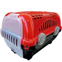 Caixa de Transporte para Pets Luxo 40x36,5cm Vermelha - Furacão Pet