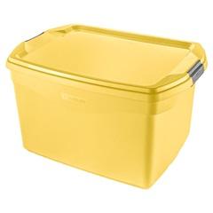 Caixa Organizadora 29 Litros Amarela - Sanremo