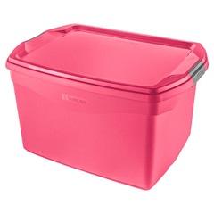 Caixa Organizadora 29 Litros Rosa - Sanremo