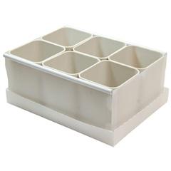 Caixa Organizadora com 6 Porta Objetos Protêa 10,2x24cm Cinza - Dello