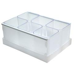Caixa Organizadora com 6 Porta Objetos Protêa 10,2x24cm Cristal - Dello