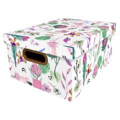 Caixa Organizadora com Tampa Botânica 18,5x38cm - Dello