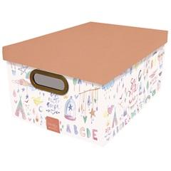 Caixa Organizadora com Tampa Criança Feliz 18,5x38cm - Dello