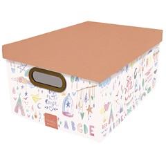 Caixa Organizadora com Tampa Criança Feliz 19,7x52cm - Dello