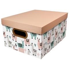 Caixa Organizadora com Tampa Lhama 18,5x38cm - Dello