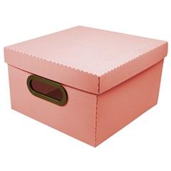 Caixa Organizadora com Tampa Linho Coral 15x25cm - Dello