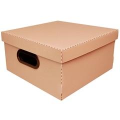 Caixa Organizadora com Tampa Linho Terracota 15x29cm - Dello