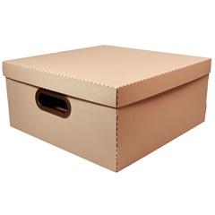 Caixa Organizadora com Tampa Linho Terracota 16x35cm - Dello