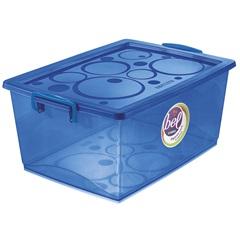 Caixa Organizadora com Trava Bel Azul 30 Litros - Ordene