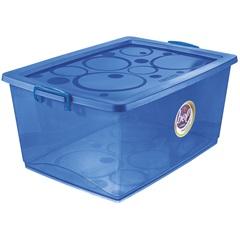 Caixa Organizadora com Trava Bel Azul 60 Litros - Ordene