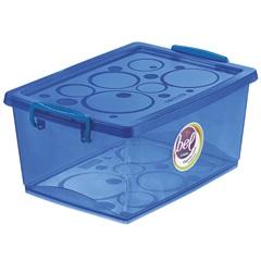 Caixa Organizadora com Trava Bel Azul 7,5 Litros - Ordene