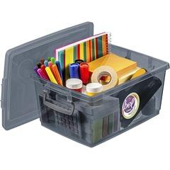 Caixa Organizadora com Trava Bel Grafite 4 Litros