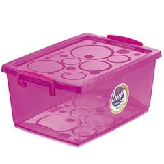 Caixa Organizadora com Trava Bel Pink 7,5 Litros - Ordene