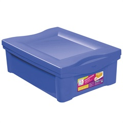 Caixa Organizadora em Polipropileno 13,5 Litros Azul - Ordene