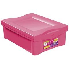 Caixa Organizadora em Polipropileno 13,5 Litros Rosa - Ordene