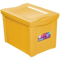 Caixa Organizadora em Polipropileno 30 Litros Amarelo - Ordene