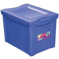 Caixa Organizadora em Polipropileno 30 Litros Azul - Ordene
