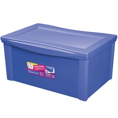 Caixa Organizadora em Polipropileno 65 Litros Azul - Ordene