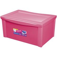 Caixa Organizadora em Polipropileno 65 Litros Rosa - Ordene