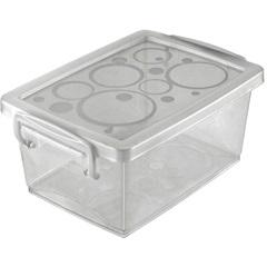 Caixa Organizadora em Polipropileno com Alça Transparente 650ml - Ordene