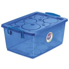 Caixa Organizadora em Polipropileno com Trava Bel Azul 4 Litros - Ordene