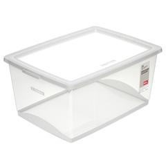 Caixa Organizadora em Polipropileno com Trava Bel Cristal 60 Litros - Ordene